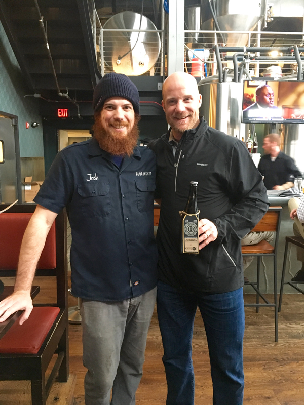 Head brewer Josh Chapman and Jason Chimera